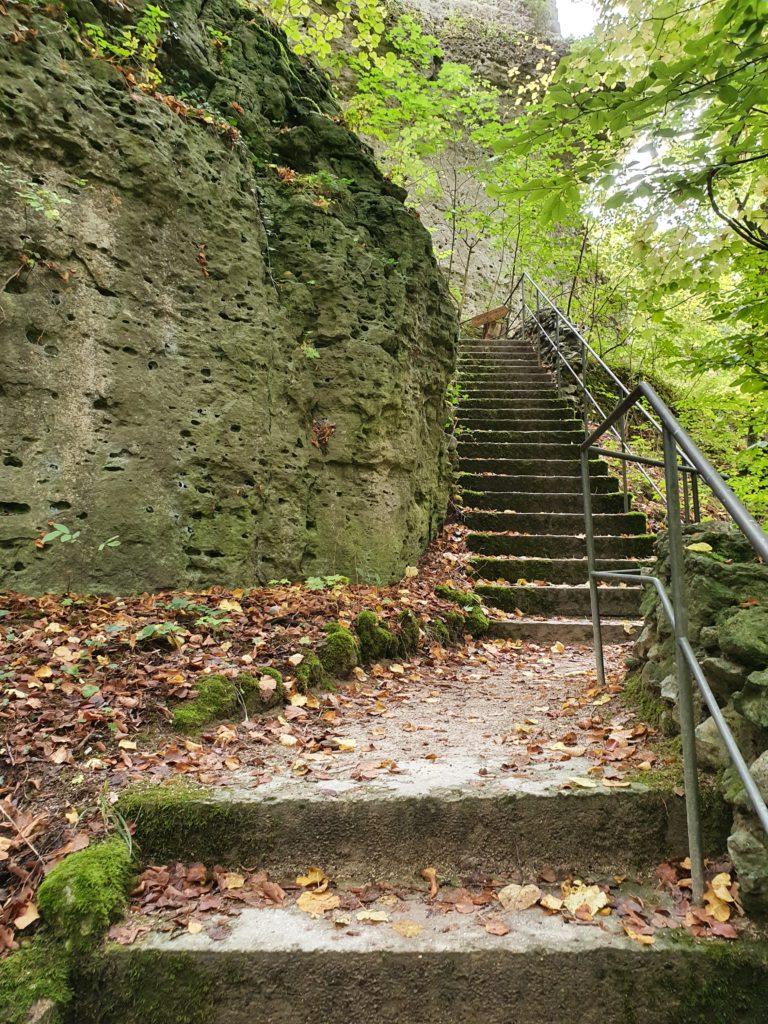 Treppe zur Burg Zwernitz